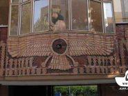 تابلو سفالی ، نقش سفال ، نمای ساختمان