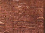 تابلو سفالی ، کتیبه های سفالی ، طرح منظره