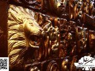 تابلو سفالی ، کتیبه های سفالی ، طرح پازلی - کد ۳۵۷