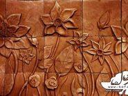 تابلو نقش برجسته ، تابلو سفال نقش برجسته ، سفال روی دیوار