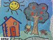 تکنیک-موزاییک--,-نقاشی-کودک-کد-۹۶۹