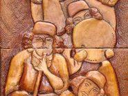 سفال نقش برجسته ، نقش برجسته سفالی ، نقش برجسته ،  سفال روی دیوار