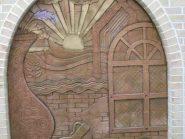سفال نقش برجسته ،  نقش برجسته سفالی ،  نگین  سفال ، طرح سنتی نمای ساختمان