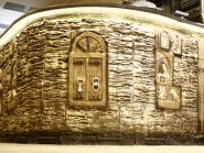 طرح نقش برجسته ، طرح کتیبه های سفالی ، نمای داخلی هتل جلفا اصفهان
