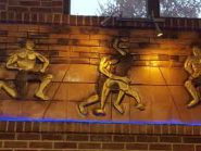 طرح کتیبه سفالی ، طرح سفال نقش برجسته ، زورخانه مرکزی تهران
