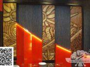 طرح کتیبه سفالی ، طرح سفال نقش برجسته ، پروژه رستوران طلاییه