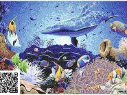 نقاشی-موزاییک-,-آکواریوم-کد-۹۰۶