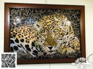 نقاشی-موزاییک-,-ببر-کد-۹۰۰