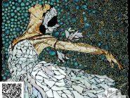 نقاشی-موزاییک-,--دختر-رقصنده-کد-۹۰۸
