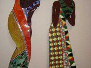 نقاشی-موزاییک-,--دو-دختر-کد-۹۱۵