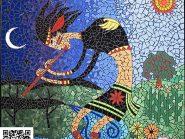 نقاشی-موزاییک-,-فلوت-زن-کد-۹۰۴