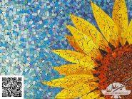 نقاشی-موزاییک-,-گل-آفتابگردان-کد-۹۱۷
