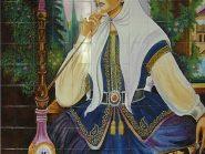 کاشی-مینیاتور،-نقاشی-خاتون-کد-۱۲۳۰