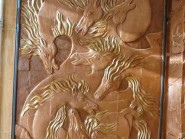 pottery , Ceramic Relief , Horse abstract design