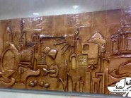 pottery , ceramic Relief , Ceramic design on the wall