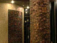 pottery , ceramic Relief , Column puzzle design