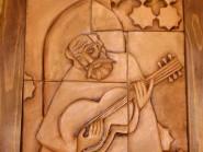 pottery , ceramic Relief , Cubism design