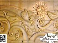 pottery , ceramic Relief , Cubism design interior decoration