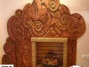 pottery , ceramic Relief , Design fireplaces