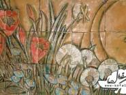 pottery , ceramic Relief , Exterior view Lobby Design