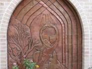 pottery , ceramic Relief , Miniature design facade