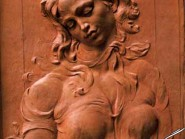 pottery , ceramic Relief , Miniature female