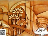pottery , pottery Relief ,  Cubism design