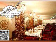 رستوران نارنج هتل جلفای اصفهان , نقش برجسته , تابلو سفال پازلی , سفال