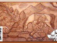 زورخانه مرکزی اصفهان , نقش برجسته روی سفال , خان دوم , طرح زورخانه ای