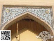کاشی هفت رنگ  و معرق , لچک های دور دانشکده پزشکی دانشگاه نجف آباد , سفال