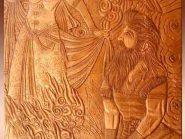 زورخانه مرکزی اصفهان , نقش برجسته روی سفال , خان چهارم , طرح زورخانه ای