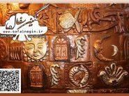 رستوران نارنج هتل جلفای اصفهان , نقش برجسته , تابلو سفال پازلی