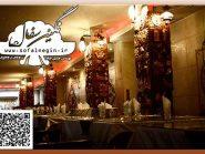 رستوران نارنج هتل جلفای اصفهان , نقش برجسته , تابلو سفال پازلی , سفال , نقش برجسته سفالی