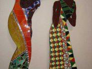 اللوحه، فسیفساء -، - اثنین من الفتیات رمز -۹۱۵