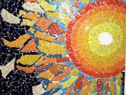 اللوحه، فسیفساء -، - الشمس رمز -۹۱۶