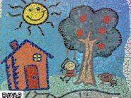 الهندسه الفسیفساء -، - الرسم للأطفال رمز -۹۶۹