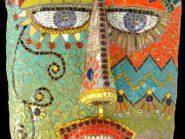 الهندسه الفسیفساء  قناع رمز -۹۷۷