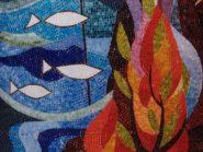 للکسر البلاط -، - شجره والأسماک رمز -۹۴۰