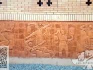 Ceramic reliefs gymnasium Kojan-03