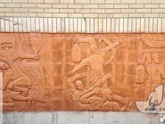 Ceramic reliefs gymnasium Kojan-04
