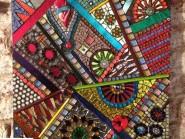 Génie-mosaïque -, - conception-cubisme code -987