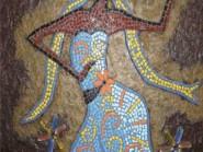 Génie-mosaïque -, - femelle-danseur-Code -981