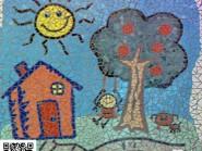 Génie-mosaïque -, - la peinture enfant code -969