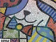 Ingegneria mosaico -, - pittura, mobili - Codice 968