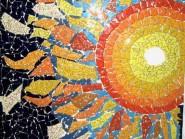 Peinture, mosaïque -, - Code soleil -916