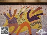 Peinture, mosaïque -, - Guerre code -918