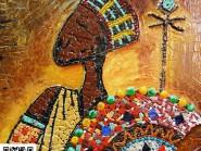 Peinture, mosaïque -, - Indian code -922