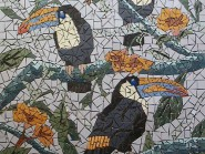 Peinture, mosaïque -, - Raven code -909