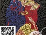 Peinture, mosaïque -, - femelle code -901