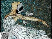 Pittura-MOSAIC -, - ragazza-dancer-codice -908